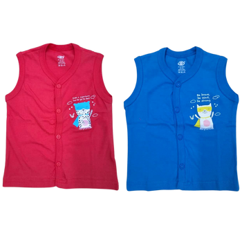 """100% cotton Infant Vest """" solid color  - 4   """""""