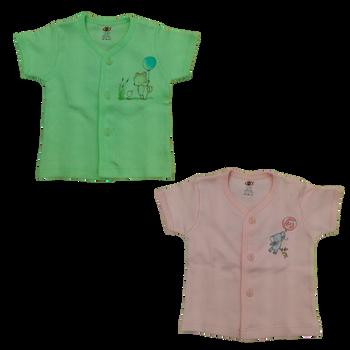 """100% cotton Infant Vest """" Short Sleeve print  """""""