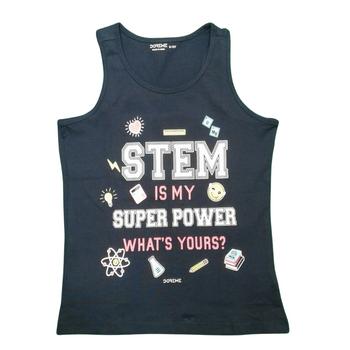 "Girls  TOP Sleeveless  ""STEM"""