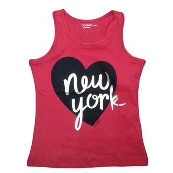 """Girls  TOP Sleeveless  """"NEW YORK"""""""