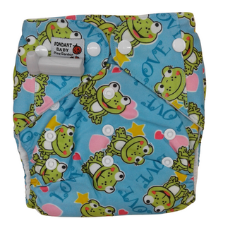 Baby Cloth Diapers One Size Adjustable Washable Reusable  (  2 Pcs Insert Pads ) Green