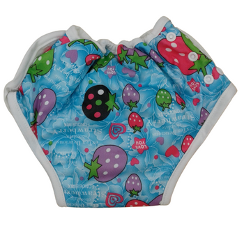 Baby Cloth Diapers One Size Adjustable Washable Reusable - Strawberry