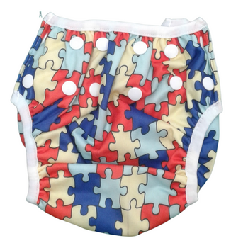 Swim Cloth Diapers Reusable Adjustable for 3m-12 Months (Pack of 2) - HAPPY