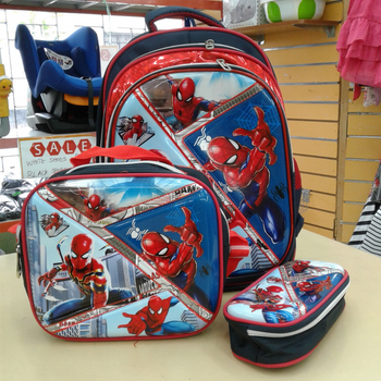 School Bag 16in-3pcs-Spiderman