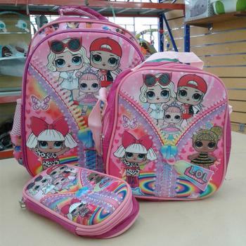 School Bag 16in-3pcs-LOL