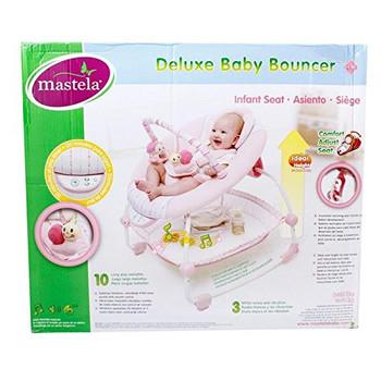 deluex baby bouncer pink
