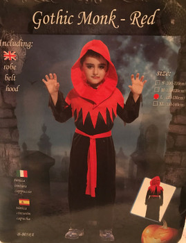 halloween costume - Gothic monk-red