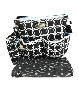 "Clinic Bag ""Black circles"""