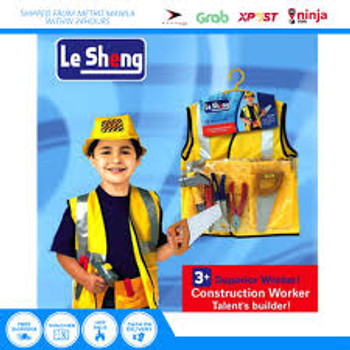 Construction Worker Dress-Up Kids Costume Set 0950-4