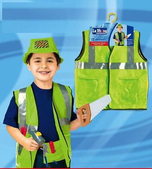 FancyDressWale Kid's Construction Worker or Engineer Dress Community Helper Theme