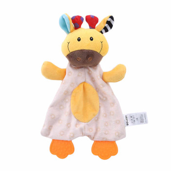 Soothing Appease Towel Animal Plush Toys Soft Skin Nibblingpacify Toys Sleeping Plush Bib Toys Comforting Blanket