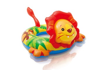 Lion Big Animal inflatable Swim Ring (3 - 6 Years, 28 x 26 inches)