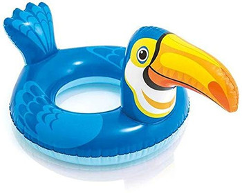 Playful Big Animal Deluxe Inflatable Crocodile Shaped Swim Ring Pool Water Paddling Float (Multicolour, 3-6 years)