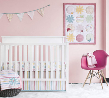 Fanciful Floral  4-Piece crib set