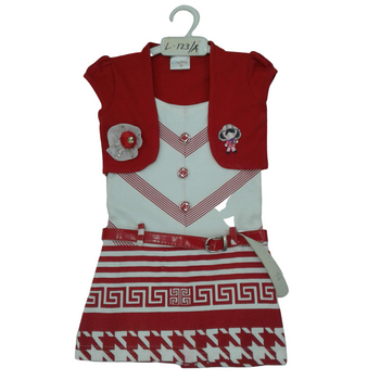 Girls Frock   (red)