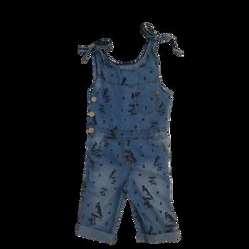 Infant overalls (girl) - denim