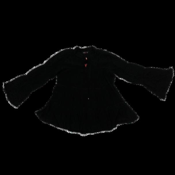 Girls Top - Black Long Sleev