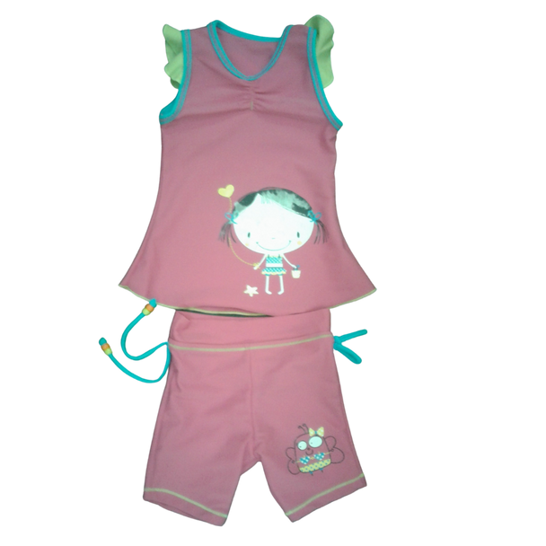 Girl  Swimsuit- pink