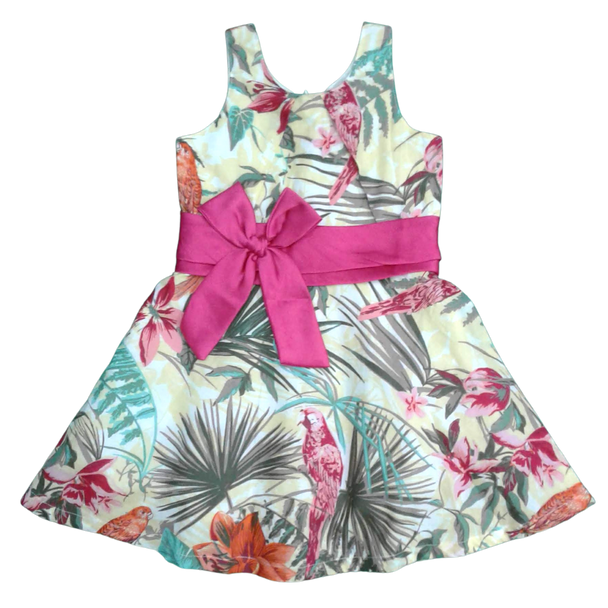"Girls Dress  "" Parrot  """