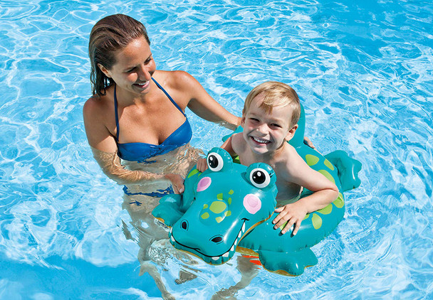 Alligator Big Animal inflatable swimming ring (3 - 6 years, 28 x 22 inches)