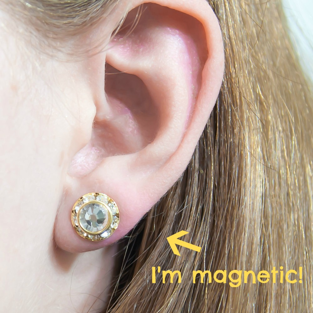 62bd4370e833d Non-Pierced Magnetic Earrings, Choose Size and Color