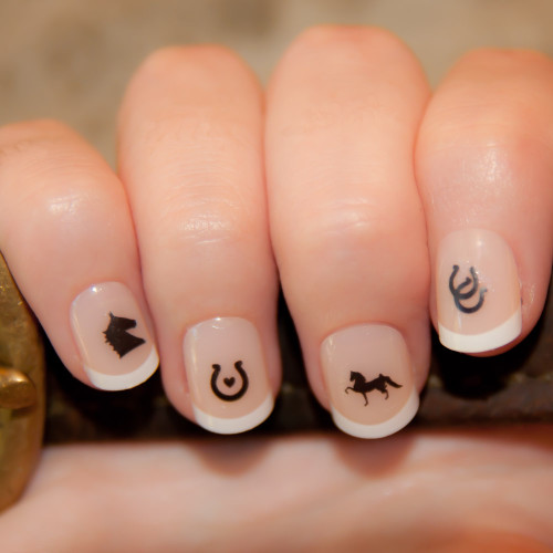 """Classic Saddleseat"" Nail Decals"