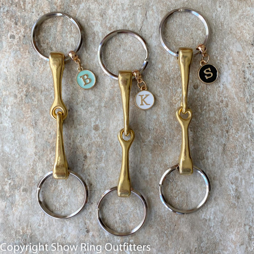 Snaffle Bit Personalized Key Ring