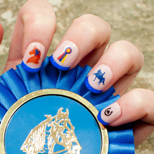 """Blue Ribbon"" Nail Decals"