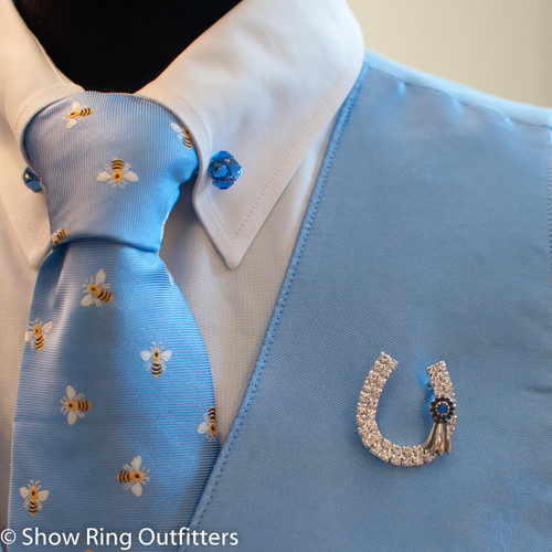 Exclusive! Blue Ribbon Brooch Pin