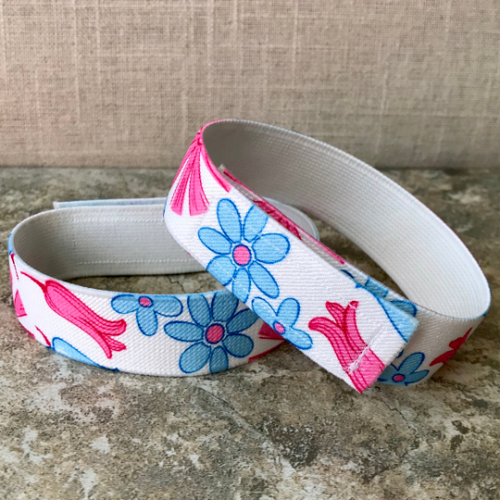 Jod Savers (Cuff Straps),  Pink Flowers