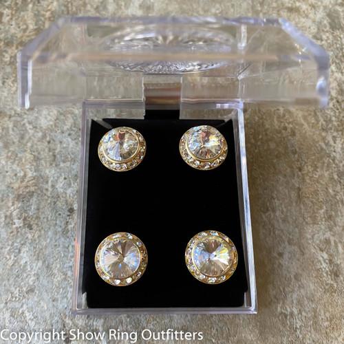 Faux Crystal Magnet Set, Gold