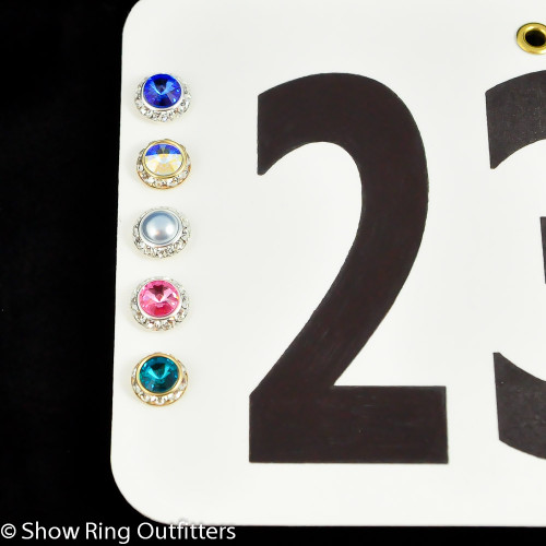 Small Crystal Number Magnets, 25 classic colors