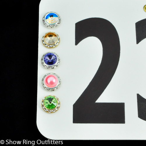 Large Crystal Number Magnets, 25 classic colors