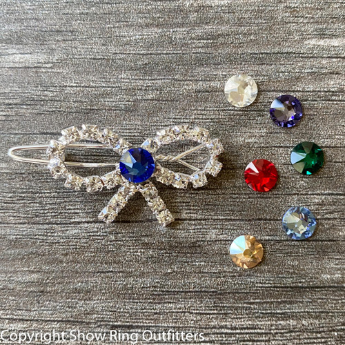 NEW! Mini Rhinestone Bun Bow, 25 classic colors