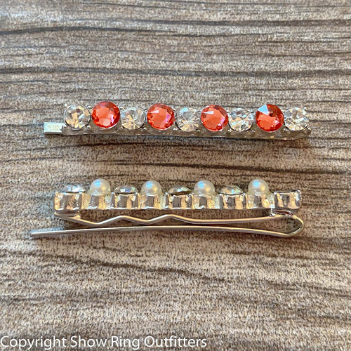 New! Rhinestone Slide Bun Barrette, 25 classic colors