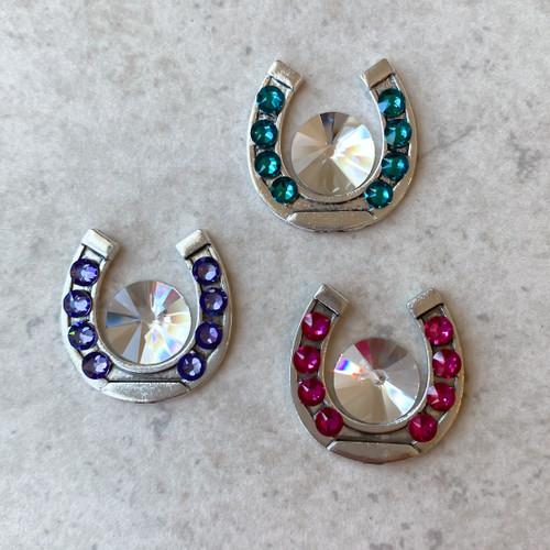 Large Magnetic Horseshoe Lapel Pin, 25 colors