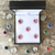 5-piece Small Crystal Number Magnets, 25 colors