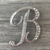 SALE! Silver Initial Letter Brooch Pin