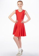 Tappers & Pointers armelloses Standard- & Lateintanzkleid Rot vorn. [Rot]