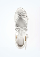 Freed Lucy Standard-Tanzschuh 4 cm Silber #2. [Silber]