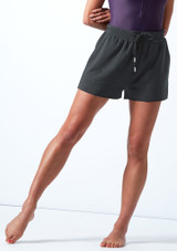 Move Dance Tanz-Shorts Cassandra aus Jersey Charcoal  Vorderseite-1T [Charcoal ]
