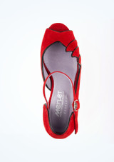 Merlet Standard- & Latein-Tanzschuh Danube 5cm Rot #2. [Rot]