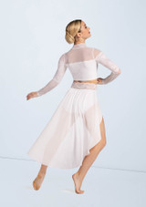 Weissman Mesh And Lace Crop Top