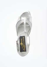 Tappers & Pointers Amber Standard-Tanzschuh 3cm Silber #2. [Silber]