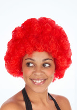 Pop Afro Perucke Rot. [Rot]
