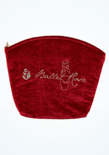 Ballet Rosa Velours Make-up-Tasche Rot hauptbild. [Rot]