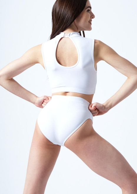 Move Dance Callisto Keyhole-Crop-Top Rot vorn. [Rot]