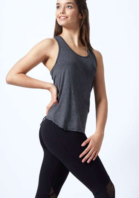So Danca Racerback-Top Grau vorn. [Grau]