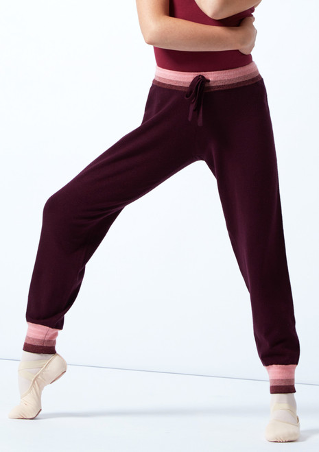 Move Dance gestrickte Teen Tanz-Jogginghose Ultra Fig Vorderseite-1T [Fig]