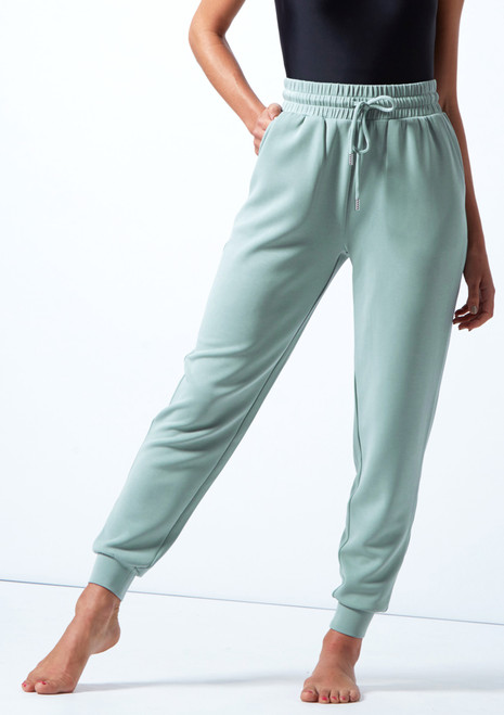 Move Dance Tanz-Jogginghose Savannah aus Jersey Teal  Vorderseite-1 [Teal ]